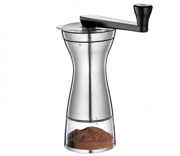 "Kaffeemühle ""Manaos"" Edelstahl / Acryl"