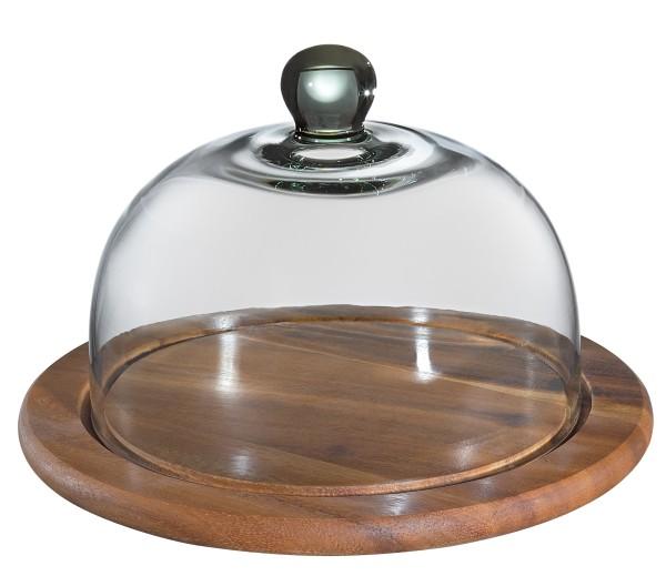 Käseglocke mit Glasdeckel